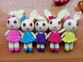 Handknit bunny toy for cute living/100% hand knit/ body friendly