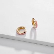 Fashion Jewelry Gold Color Copper Mini Enamel Hoop Earrings Trendy Huggie Earrings for Women недорого
