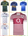 HOT Rugby jerseys New springboks England Leinster Leicester Tigers rugby football sports t-shirt jersey