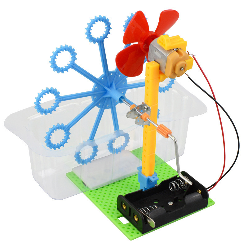 Automatic Bubble Maker Blower Machine Children Assemble Puzzle Bathing Toys Outdoor Activity Kids Early Educational Gift