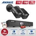 4em1 1080n annke 4ch full hd dvr cctv sistema de câmera 720 P TVI kit p2p Vigilância Impermeável Ao Ar Livre Câmeras de Segurança 1 TB HDD