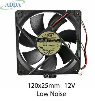 עבור ADDA AD1212LB A71GL 12cm 120mm 120*120*25mm 12V 0.24ADC קירור מחשב כדור Brg 2pin מאוורר|cooling computer|computer fan12v cooling fan 120mm -