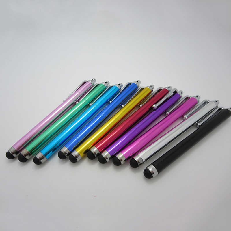 1 pièce 11 cm couleur aléatoire métal tactile stylo écran tactile stylet pour iPad Kindle Galaxy tablette smartphone condensateur stylet stylos