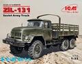New Arrivial! ICM model 35515 1/35 ZiL-131, Soviet Army Truck plastic model kit