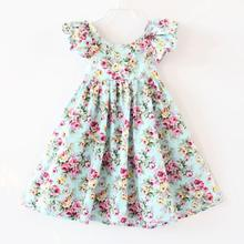 New 2017,Girls dress,Summer Clothing,Baby Girl Dress,Kids Backless Beach Dresses For Girls,Baby Girl Clothes,For 1-6 Year