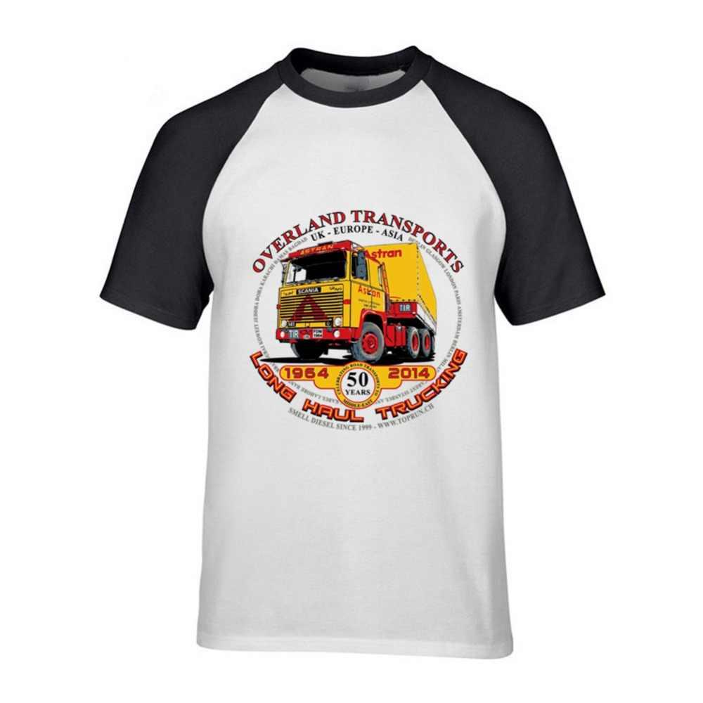 Новый хлопок короткий рукав scania грузовик печати забавная мужская футболка Повседневная o-образным вырезом свободные летние футболка для мужчин футболки Бесплатная доставка