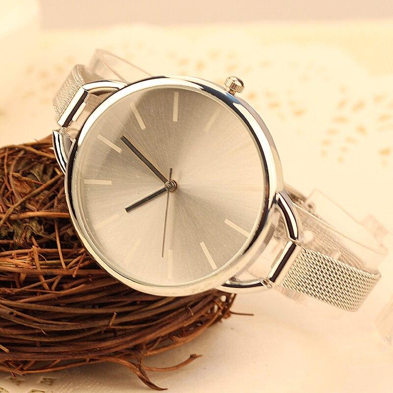 2018 jenis Baru Merek jam tangan Hitam Perak Quartz Logam Mesh pecinta Jam  Tangan fashion pria wanita olahraga jam tangan hadiah terbaik menonton 86de2c4841