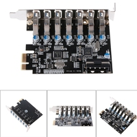 PCI E USB 3.0 7 ports Super Speed USB 3.0 To 15 Pin SATA Power Connector PCI Express Card Adapter