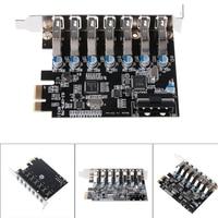 PCI E USB 3 0 7 Ports Super Speed USB 3 0 To 15 Pin SATA