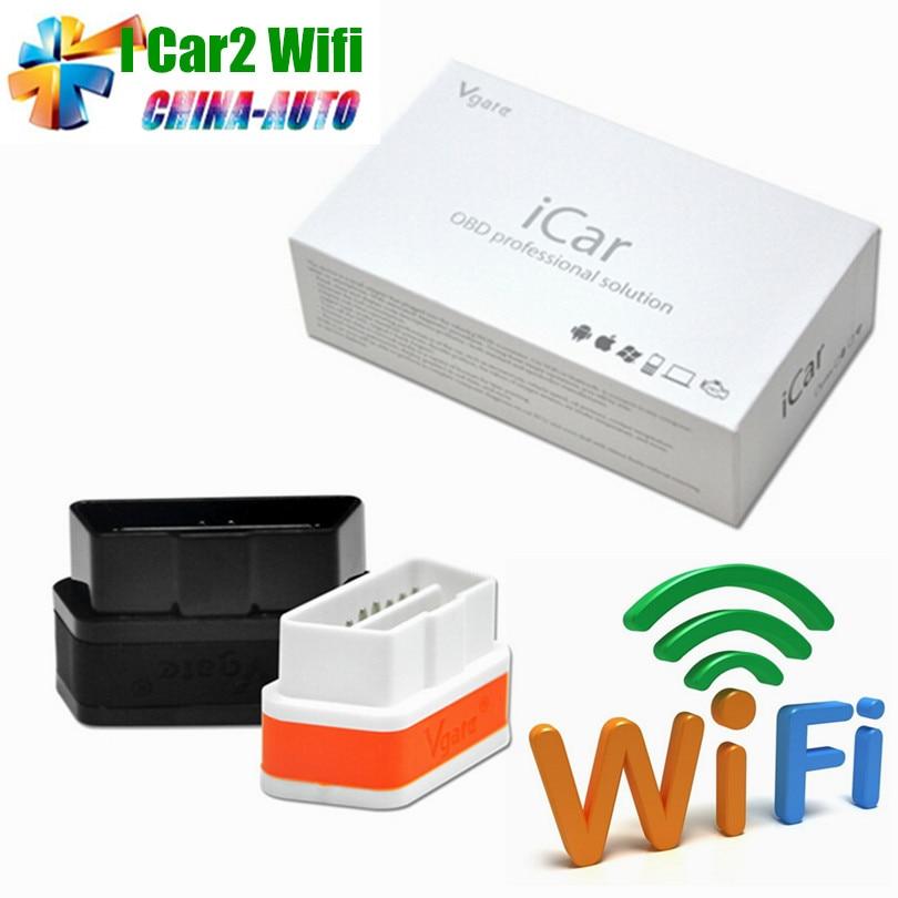 Prix pour 2016 iCar2 Vgate WiFi iCar 2 OBDII ELM327 100% D'origine WiFi Vgate OBD Diagnostic Scanner Pour iOS/Android PC 2 Ans garantie