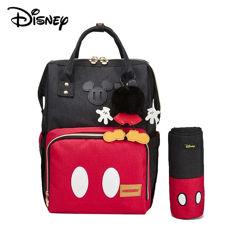Disney Bottle Feeding Insulation Bags USB Oxford Cloth Diaper Storage Bag Backpack Fashion Waterproof Large Capacity Diaper Bags