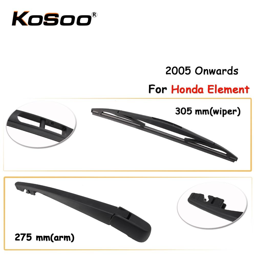 KOSOO Auto Rear Window Windshield Wiper Blades Arm Car