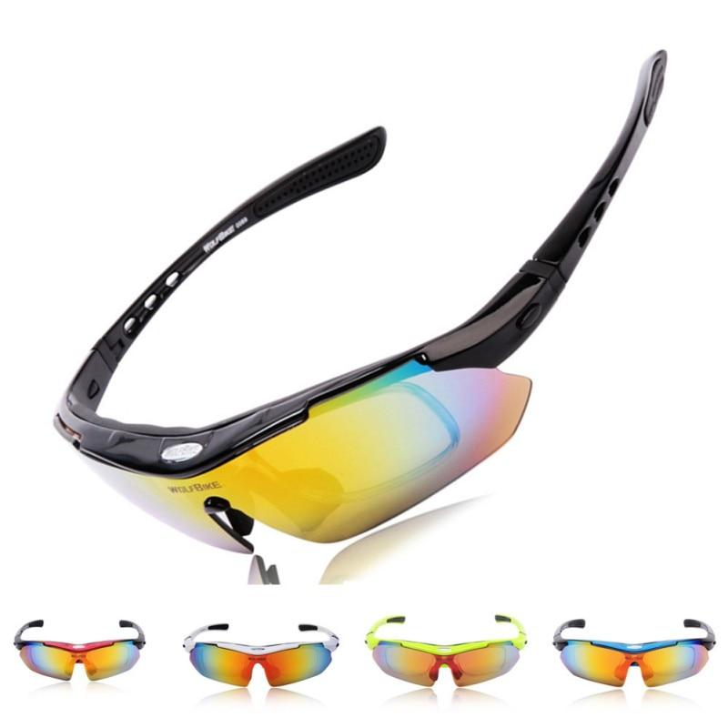Hombres Polarizado Ciclismo gafas de Sol Al Aire Libre Deportes de Bicicletas Bi