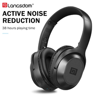 Langsdom BT25 Active Noise Cancelling Headphones Wireless Bluetooth Headset With Microphone for Phones ANC With Carrying Bag 38H
