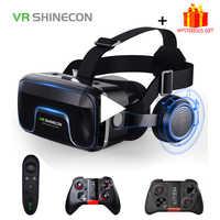 Casque de VR Shinecon 10.0 Casque 3D lunettes Casque de réalité virtuelle pour iPhone Android Smartphone lunettes de téléphone intelligent Lunette Ios