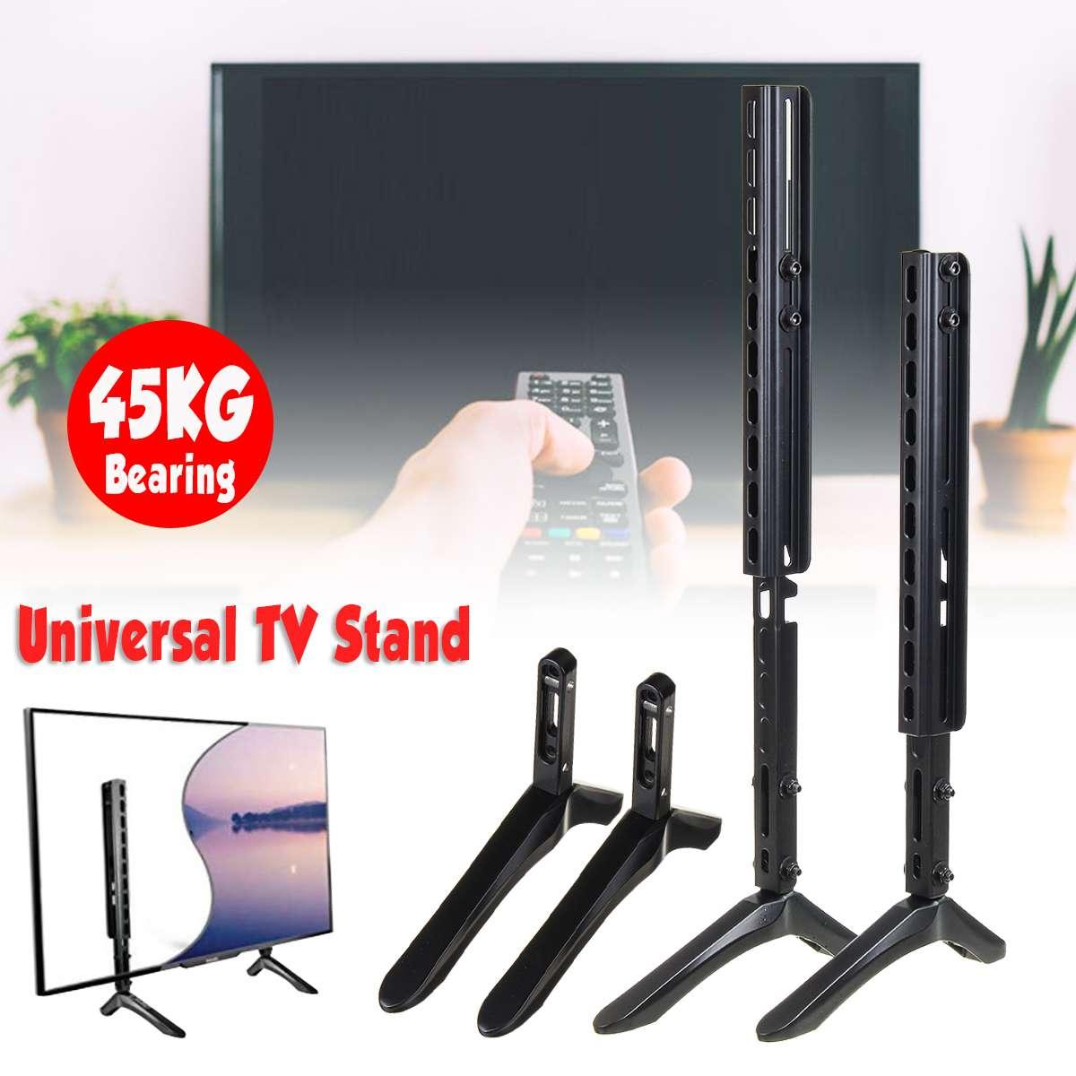 Support de Table TV universel 14-100 pouces Base de support de Table LCD écran plat support de piédestal de Table jusqu'à 45 KG installation facile de fer