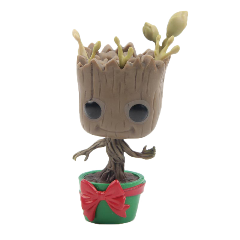 Elsadou #101 Tree Man with Bow Guardians of the Galaxy Vinyl Action & Toy Figures Children Toys Doll