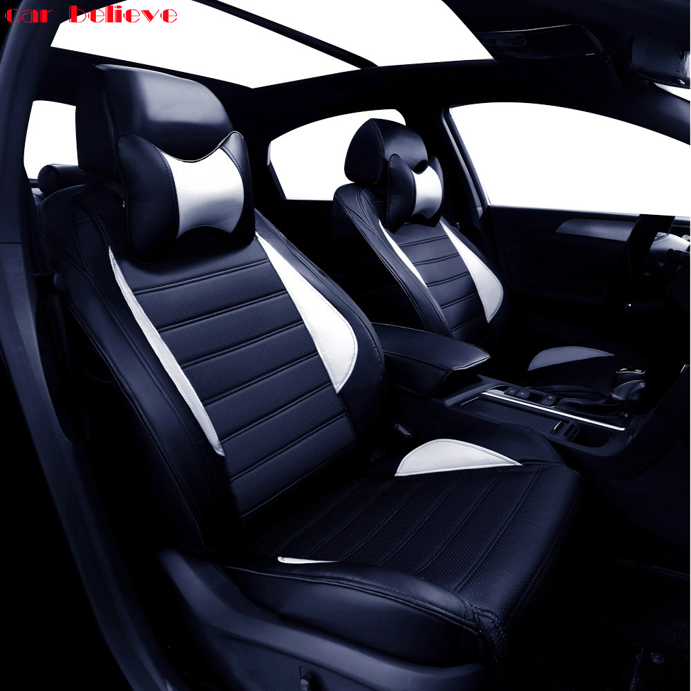 Car Believe Auto automobiles leather car seat cover For Mitsubishi Lancer 10 Outlander 2017 Pajero Eclipse asx car accessories car door stopper protection cover fit for mitsubishi asx outlander lancer accessories car sticker