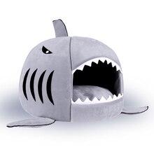2016 New 2 Size Shark Warm Dog House Pet Warm Soft Cat puppy Sleeping Bed Shark Dog Kennel Bed Cat House cama de para cachorro