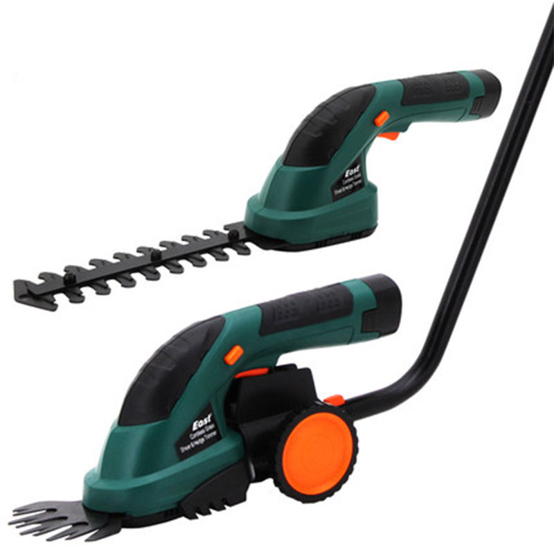 7.2v lithium battery rechargeable double-head garden gardening electric lawn hedge shears