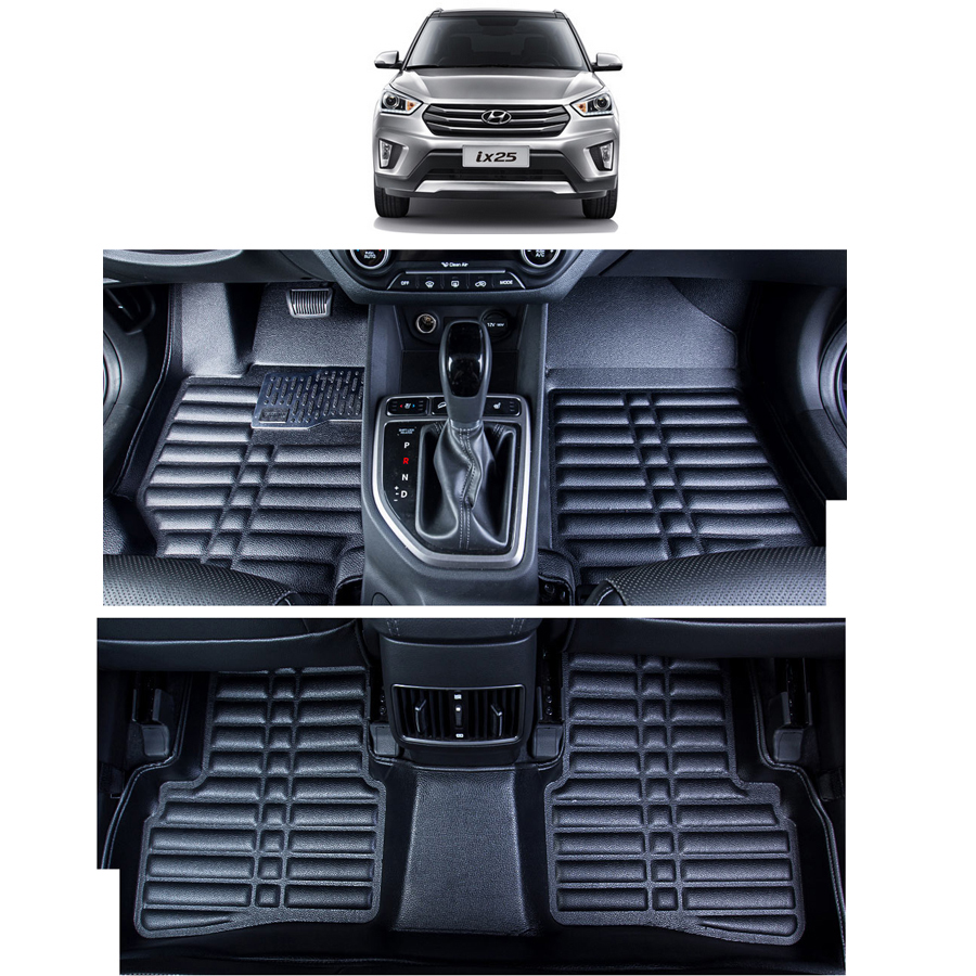 fast shipping leather car floor mat carpet rug for Hyundai ix25 2014 2015 2016 2017 2018 hyundai Creta