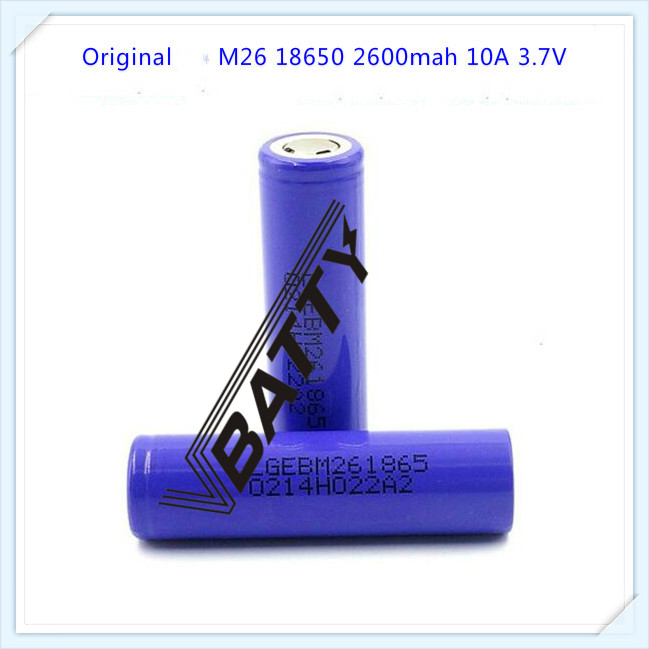 Consumer Electronics 2pcs/lot Brand New For Lg M26 18650 Battery 2600mah 10a 3.7v Li-ion Battery Rechargeable Battery For E-cig/scooter Fashionable Patterns