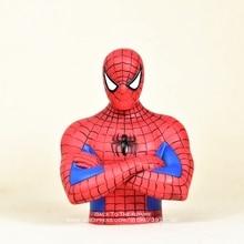 ディズニーマーベルアベンジャーズスパイダーマン貯金箱 17 センチアクションフィギュア姿勢アニメの装飾コレクション置物おもちゃモデル子供