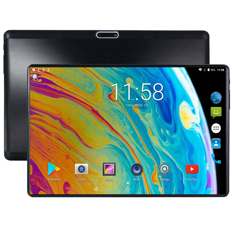 2019 New 10 Inch Tablet PC Octa Core 4GB RAM 64GB ROM 2 Colors Android 8.0 WiFi Bluetooth Dual SIM Cards 3G 4G LTE Tablets+Gifts
