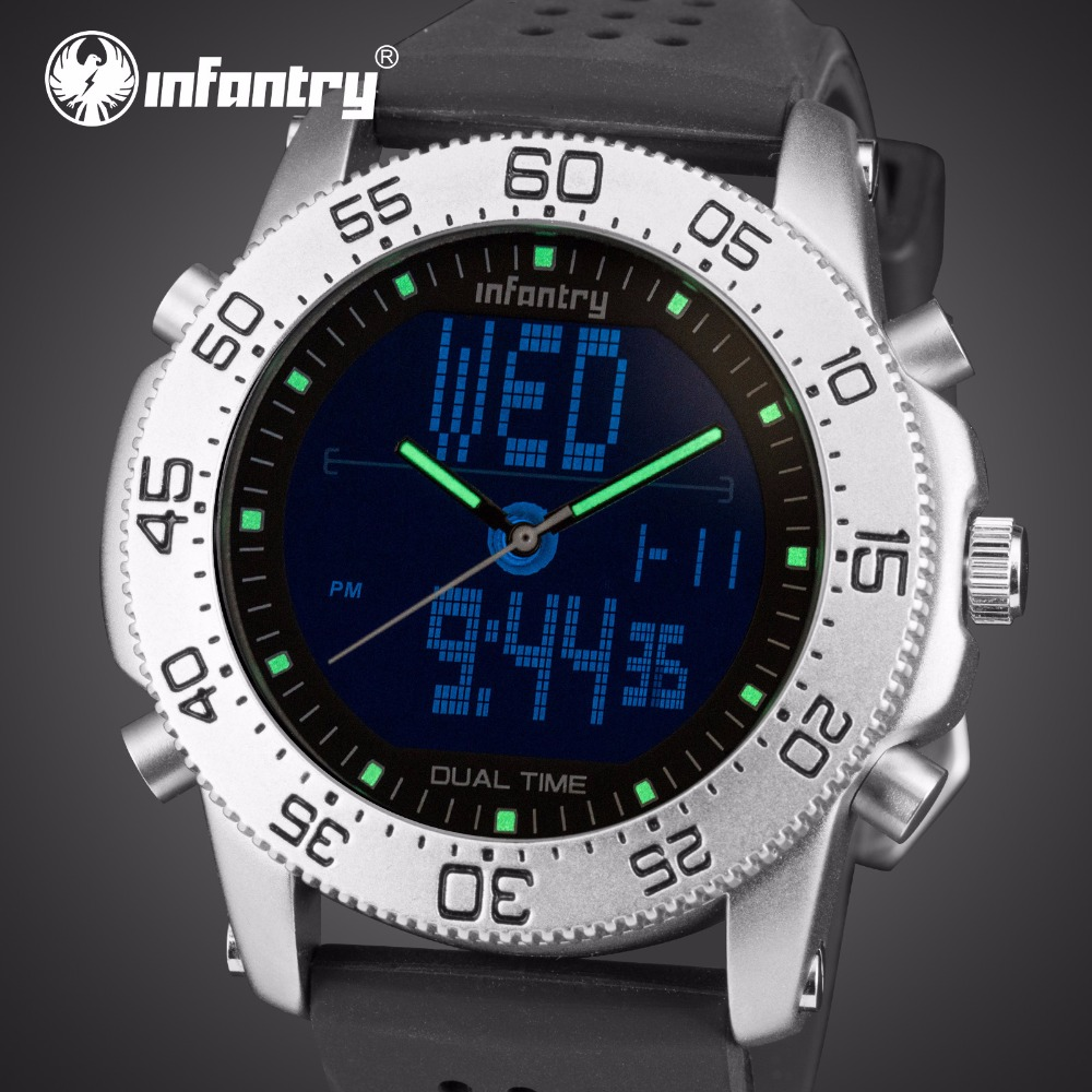 INFANTRY men's watches the best luxury brand day this year watch grow in dark led watch naviforce watch men sports fashion lukyanenko s the day watch
