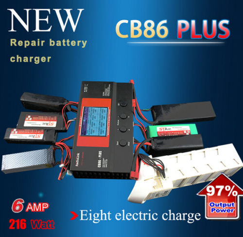 Radiolink CB86 Plus 6A 220W Balance Charger for RC 8 pcs 2-6S Lipo Battery цена 2017