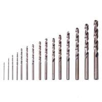 15pcs Round Handle Twist Drill Bit High Speed Steel Drill Bit Set DIY Plastic Metal Woodworking