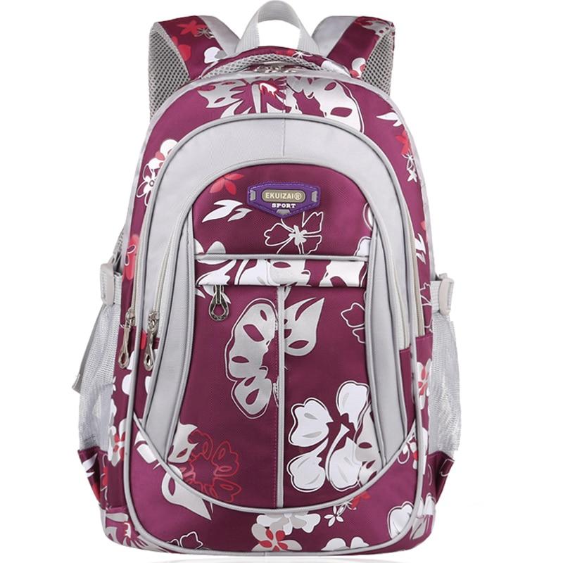 Children s School backpack Borse Bags Waterproof Primary School Backpacks Girls Mochila Infantil Zip bag