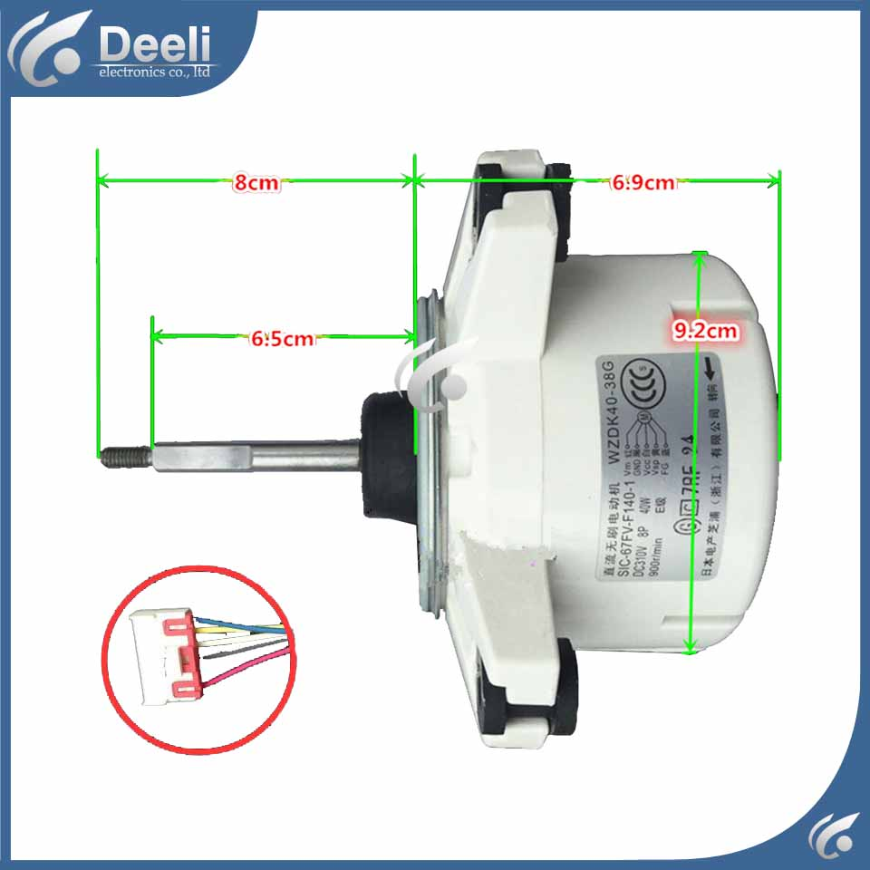 100% new good working for Air conditioner Fan motor machine motor WZDK40-38G SIC-67FV-F140-1 good working