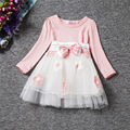 New Brand 2017 Autumn Winter Baby Girl Dress Kids Clothes Infant Party Wear Flowers Toddler Girls 1 2 Year Birthday Gift Dresses