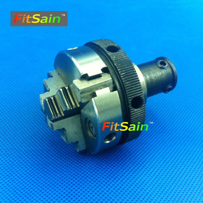 FitSain-Three jaw chuck D=50mm CNC mini SELF-CENTING maiually operated chuck Bench Lathe parts Used for motor shaft 8mm/10mm easy operation 600 900 mm mini cnc lathe