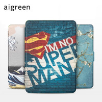 Hot Cute Cartoon Magnetic PU Leather Slim Case For Amazon Kindle Paperwhite 1 2 3 6