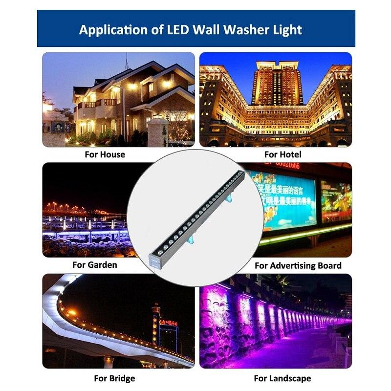 JOYINLED fábrica IP65 impermeable al aire libre luz Led arandela de la pared de la luz de 36 W de alta potencia Blanco/Rojo/RGB/ luz de lavado LED azul/verde