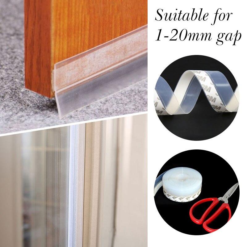 bande de porte en caoutchouc de silicone de 100 cm joint de porte auto-adh/ésif pour porte ou fen/être Joint insonoris/é pour m/énage