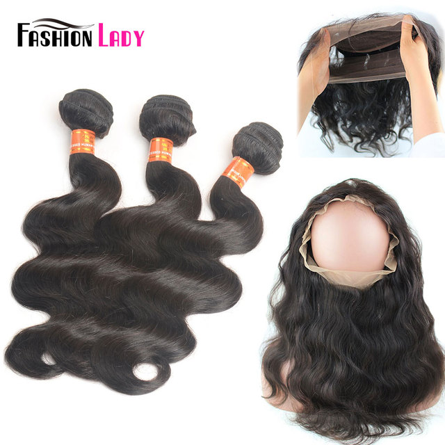 Fashion Lady Pre Colored Remy Brazilian Hair Weave Bundles With 360
