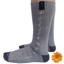 Зимние виды спорта носки Новый Год подарок USB тепловой сапоги чулки Отопление батареи 5V ног согревающие носки серый женщин мужчин 38-44