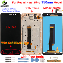 For Xiaomi Redmi Note 3 LCD Display+touch screen+Frame Digitizer panel Tablet Accessory for Redmi Note 3 Pro Prime 150mm 5.5inch