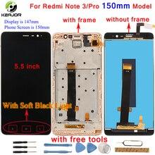Pour Xiaomi Redmi Note 3 écran LCD + écran tactile + cadre numériseur panneau tablette accessoire pour Redmi Note 3 Pro Prime 150mm 5.5 pouces