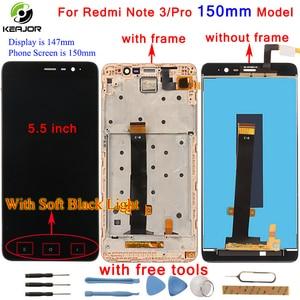 Image 1 - Pour Xiaomi Redmi Note 3 écran LCD + écran tactile + cadre numériseur panneau tablette accessoire pour Redmi Note 3 Pro Prime 150mm 5.5 pouces