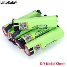 Liitokala batería recargable de litio NCR18650B, 3,7 v, 3400 mah, hoja de níquel para soldar
