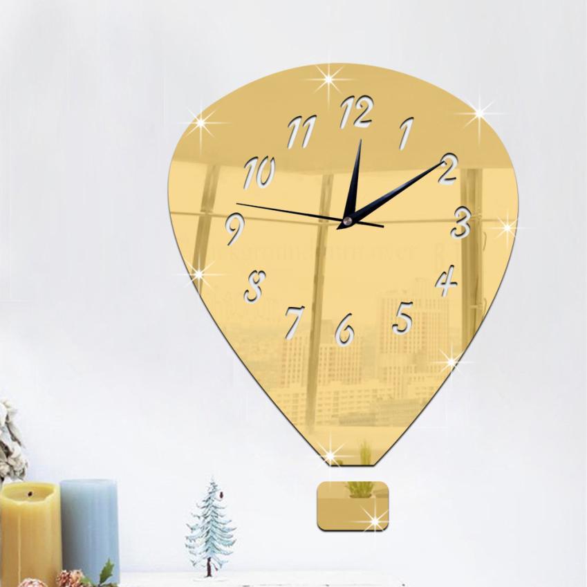 Modern DIY Wall Clock 3D Mirror Surface Sticker Mirror Wall Stickers Vintage Home Window Office Decor Wall Sticker t111