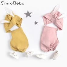 Baby's Clothes Newborn Baby Rabbit Rompers in Girls Jumpsuit Clothes Hats Sleeveless Infant Bunny Jumpsuit Outfits 0-3 Years Kid цена и фото