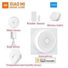 Xiaomi AQARA умный дом комплекты шлюз концентратор двери окна датчик человеческого тела беспроводной переключатель влажности воды датчик для Apple Homekit
