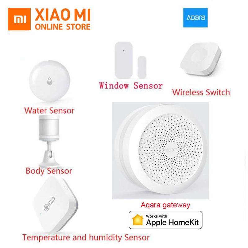 Xiaomi aqara Hub Smart Home Kits Gateway Door Sensor Human Body Wall Wireless Switch Humidity Water Sensor Lamp Apple Homekit