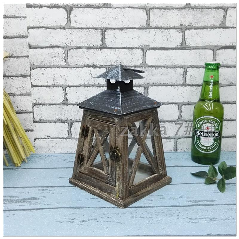 Nordic style countryside household lantern nostalgic cafe shop wedding festival Decorati ...
