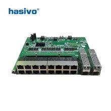 Interruptor PoE inverso 16x1 0M/100M, Puerto PoE y 4SFP, conmutador Ethernet Gigabit, placa base PCB